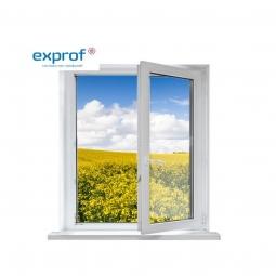Окно ПВХ Exprof 600х600 мм одностворчатое П 3 стеклопакет
