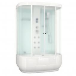 Душевая кабина Domani Spa Neat high 1500х810х2190 сатин матированное стекло, белая панель, Б/Э