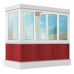 Остекление балкона ПВХ Exprof 2.4 м Г-образное