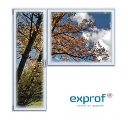 Балконный блок ПВХ Exprof 2100х2100 мм 1-Г 2 стеклопакет