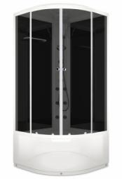 Душевая кабина Domani Spa Delight 110 high 1000х1000х2180 тонированное стекло, черная панель