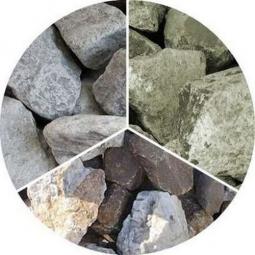 Камень для бани Огненный камень Микс:Кварцит Дунит Талькохлорит в мешке 30 кг (фр.40)