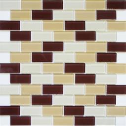 Мозаика Elada Crystal DM105 песочно-коричневая 32.7x32.7