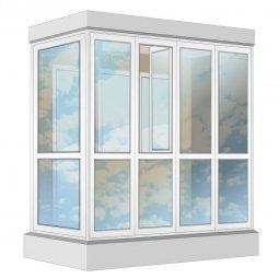 Остекление балкона ПВХ Veka в пол с отделкой ПВХ-панелями без утепления 2.4 м Г-образное