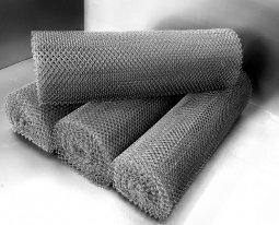 Сетка рабица d=1,2 мм, ячейка 20x20 мм, 1,5х10,0 м оцинкованная