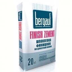 Шпатлевка Bergauf Finish Zement финишная цементная морозостойкая 20 кг