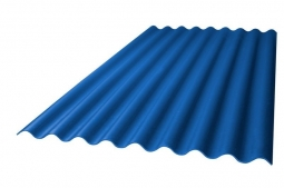 Шифер кровельный 8-волновой 1750х1130х5.8мм, синий