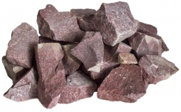 Камень для бани Огненный Камень Кварцит малиновый колотый 20 кг