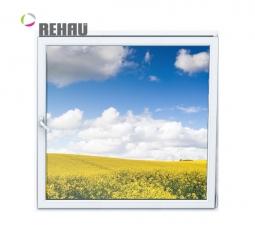 Окно ПВХ Rehau 600х600 мм одностворчатое О 1 стекло