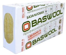 Минераловатный утештитель Baswool Вент Фасад 80 1200х600х100 мм / 3 шт.