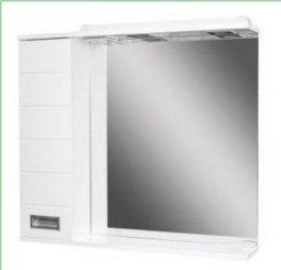 Шкаф-зеркало Домино Cube 80 левый с электрикой DC5010HZ